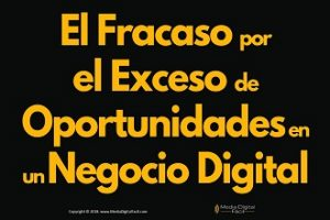 El Fracaso por el Exceso de Oportunidades en un Negocio Digital 370×220