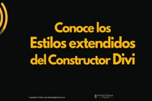 Conoce los Estilos extendidos del Divi Builder
