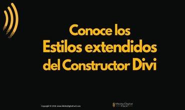 Conoce los Estilos extendidos del Constructor Divi