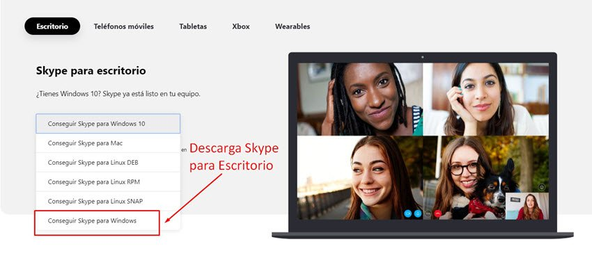 Como abrir una cuenta de Skype para Escritorio