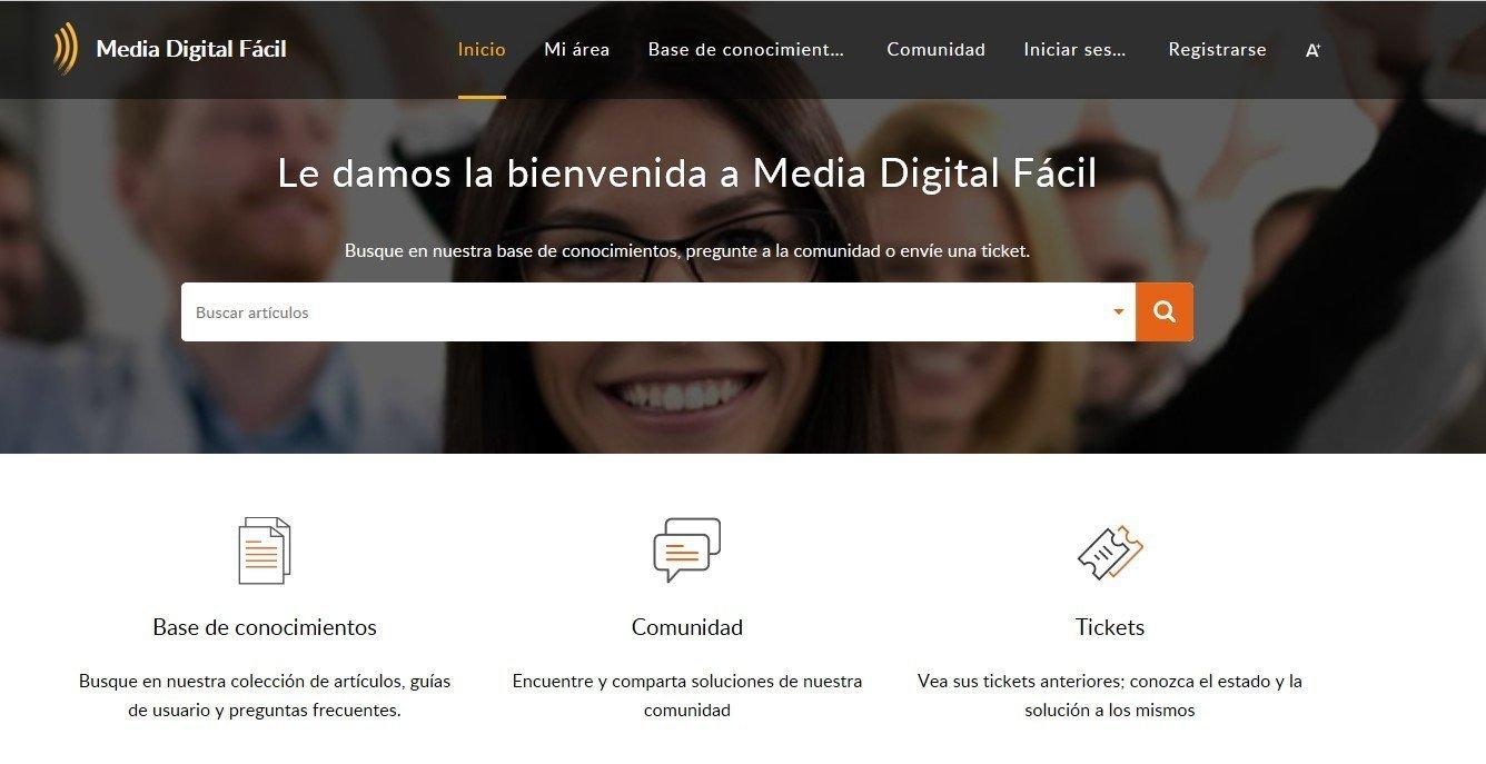 Presentación del centro de soporte de Media Digital Fácil